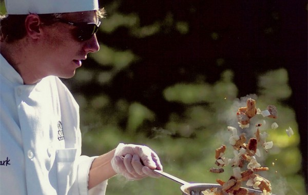 Chef Von Topel cooking at the Gardens of the World