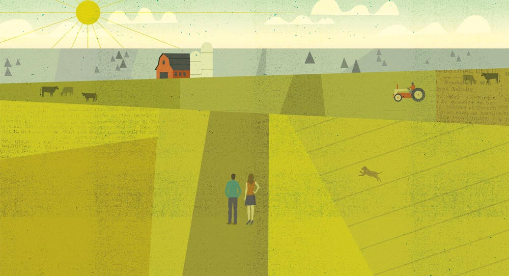 Country illustration by Dante Terzigni