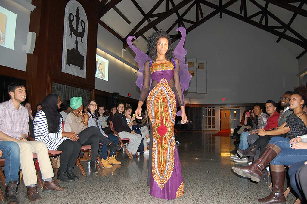 Student In Butterfly Inspired Purple Dress