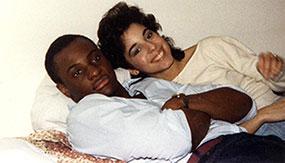 Pascal Kabemba '85 and Teresa Delgado '88