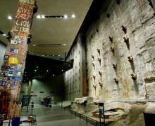Retaining wall in the 9/11 Memorial Museum