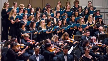 Colgate University Chorus and accompanying orchestra