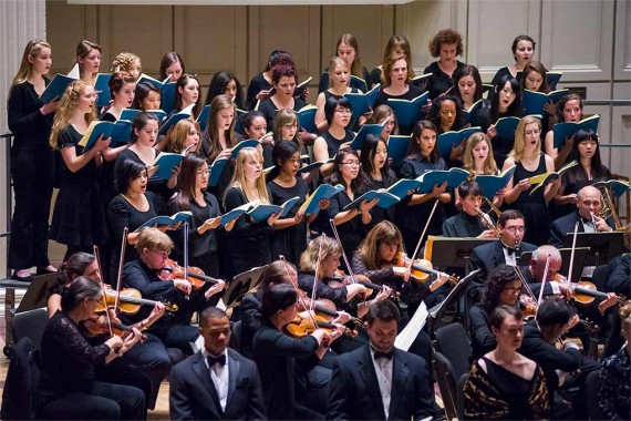 Colgate University Chorus and accompanying orchestra