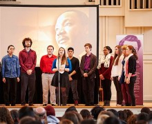 Students sing in the Chapel