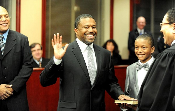 Albany County Family Court Judge Richard Rivera '86 at his swearing-in ceremony in December