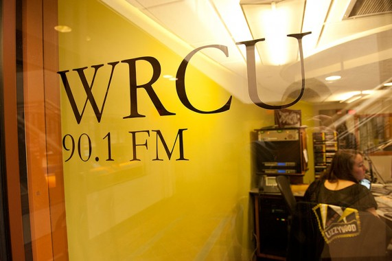 The WRCU studio in the Coop