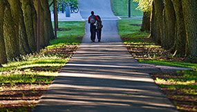Couple walking on Willow Path