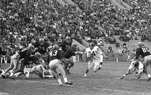 Marv Hubbard running the ball vs. Princeton