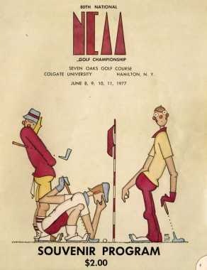 Souvenir Program from 1977 for National Golf Championship
