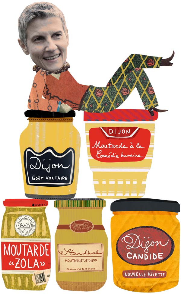 Illustration of Bernadette Lintz with Dijon mustard