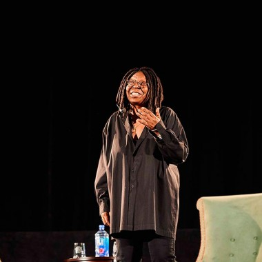 Whoopi Goldberg speaks from the stage