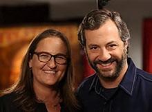 Zoe Friedman with Judd Apatow