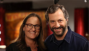 Zoe Friedman with Judd Apatow