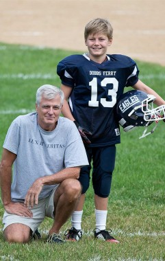 Bryan Miller '74 with his son.