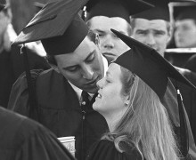 Robert '94 and Kelly Lehmann Johnson '94 at their commencement