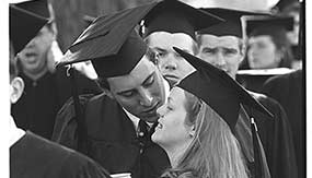 Robert and Kelly together at Colgate Commencement '94