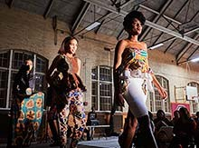 Bold patterns on display in the African Student Union fashion show.