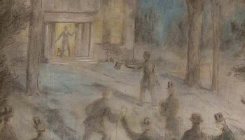 A Merrill House mural depicts the 13 men meeting at Olmstead House.