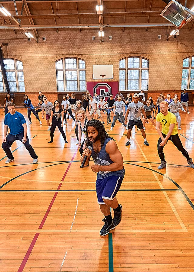 Duane Lee Holland leads a hip hop workshop