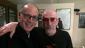 Greg Brodsky '79 with recording artist Graham Parker