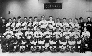 Colgate Men's Hockey team picture in 1969.