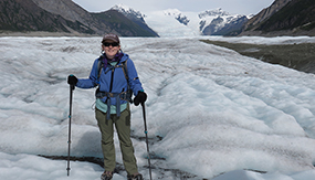 Karen Alley '12 at Kennicott Glacier, Wrangell-St. Elias National Park, Alaska