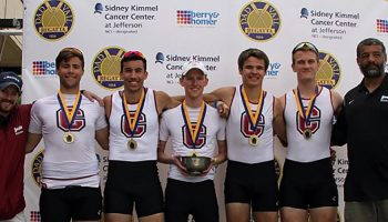 Men's Rowing Team with Gold Medals