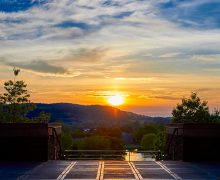 Sunset view from Persson Hall.