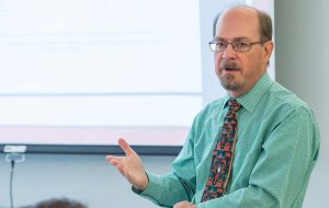 Professor Bob Turner teaching in classroom