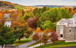 Fall campus scene photo