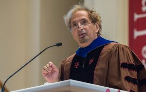 Peter Balakian reciting a poem at President Casey's inauguration in the Chapel