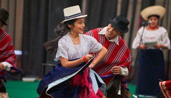 Dancers in cultural attire at the festival