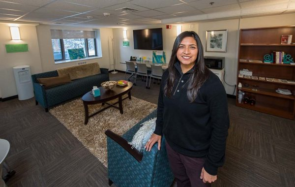Denise Contreras at Haven, Colgate's new sexual assault response center