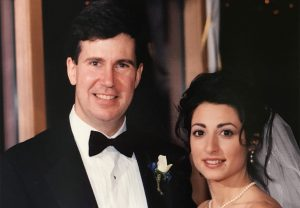 Chris Stephens '81, P'20 and Cindy Miller '89, P'20 at their wedding