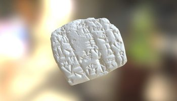 3D model of cuneiform.