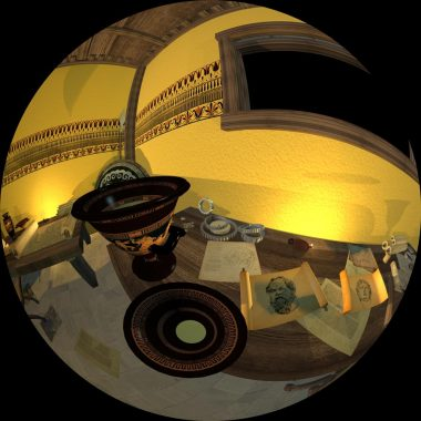 360-degree model of ancient room for display on visualization lab dome