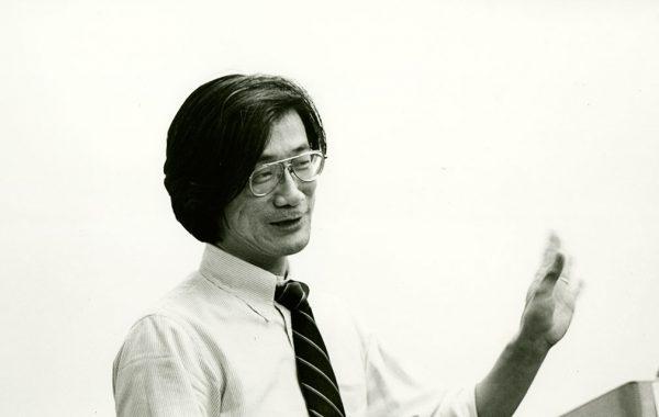 Professor Yoichi Aizawa lecturing