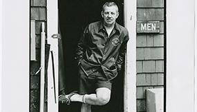 Robert Sheldon standing in a doorway