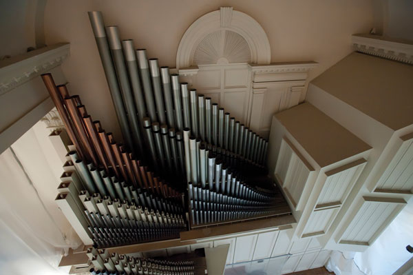 Organ pipes in Colgate Memorial Chapel