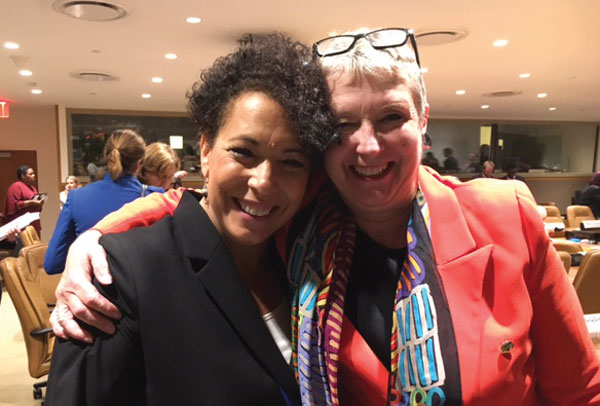 Michele Klein Solomon '83 and Professor Ellen Kraly