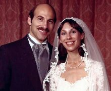 Wedding photo of Robin Goldin Como '75 and Bob Como '75