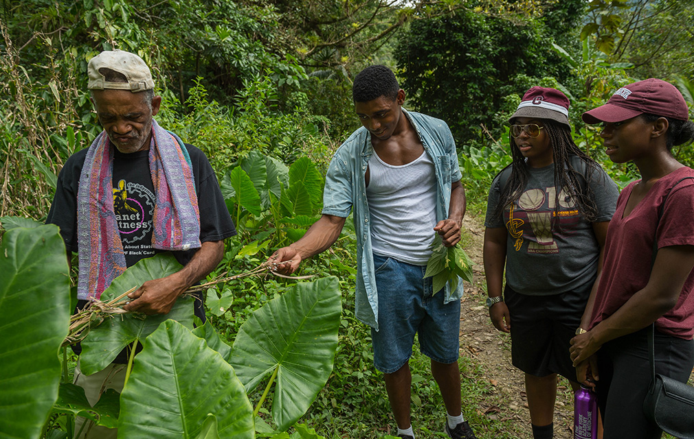 Colgate students take a tour of Moore Town, a maroon community village in the Portland Parish, Feb. 26, 2017 in Jamaica.