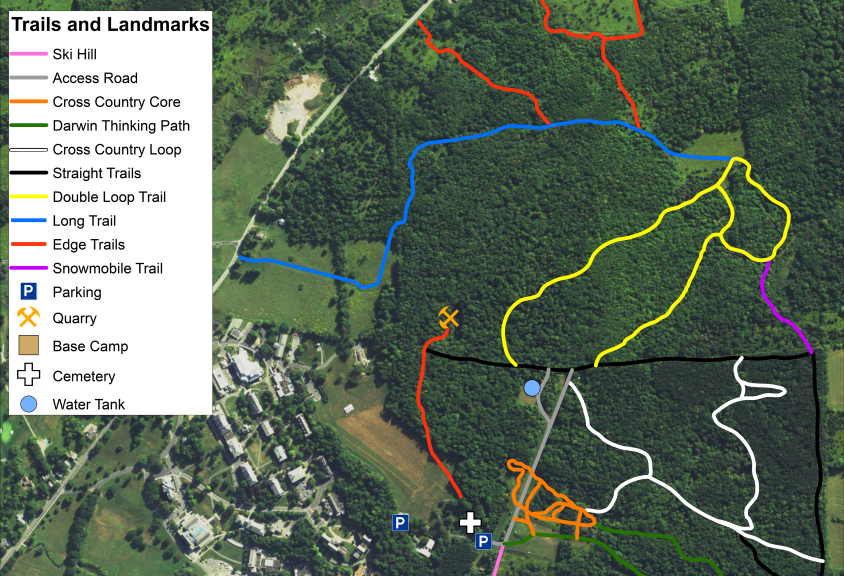 New map of Lang Trails