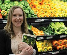 Maggie Carey in the supermarket produce section