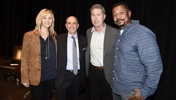 Barnet Kellman '69 with Lisa Kudrow, Peter Segal, and Robert Townsend.