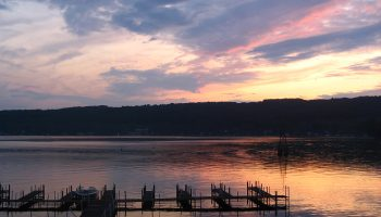 Keuka Lake at sunset