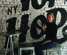 Christina Cahill '85 in her Top of the Hops Beer Shop