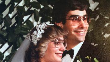 Wedding portrait of Jeffrey Kaufman '78 and Nancy Gorman '80