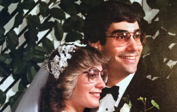 Wedding portrait of Jeffrey Kaufman '78 and Nancy Gorman '80