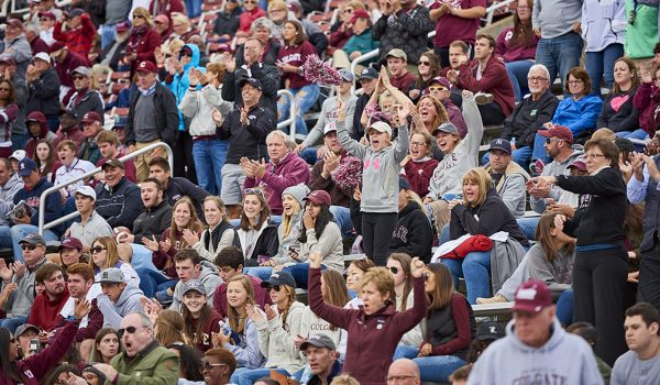 Fans at Colgate Homecoming football game
